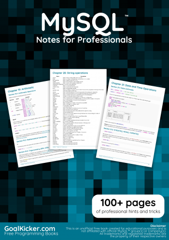 MySQL Notes for Professionals book