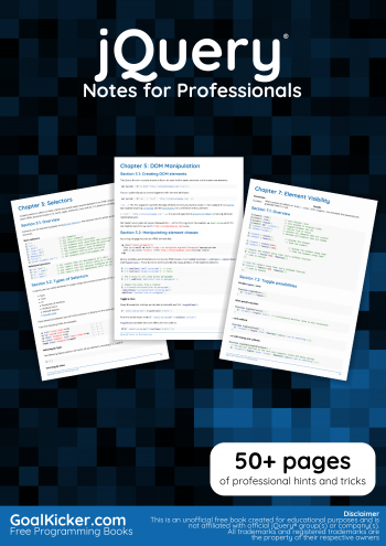 jQuery Notes for Professionals book